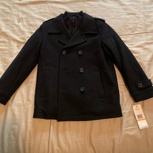 Boys Black Tommy Hilfiger Coat